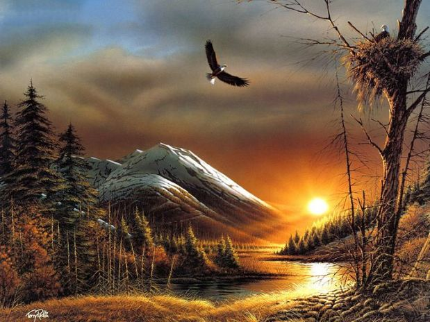 Terry_Redlin_Artwork_wallpaper_Flying_Free